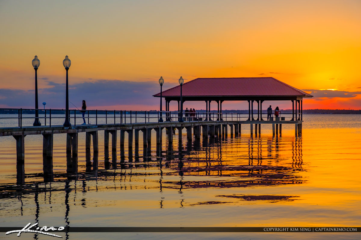 Water at the Lake Jackson Fishing Pier Sebring Florida