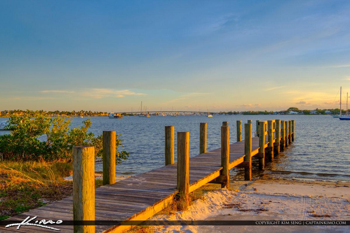 Pier Boardwalk Pendarvis Cove Park Palm City Florida