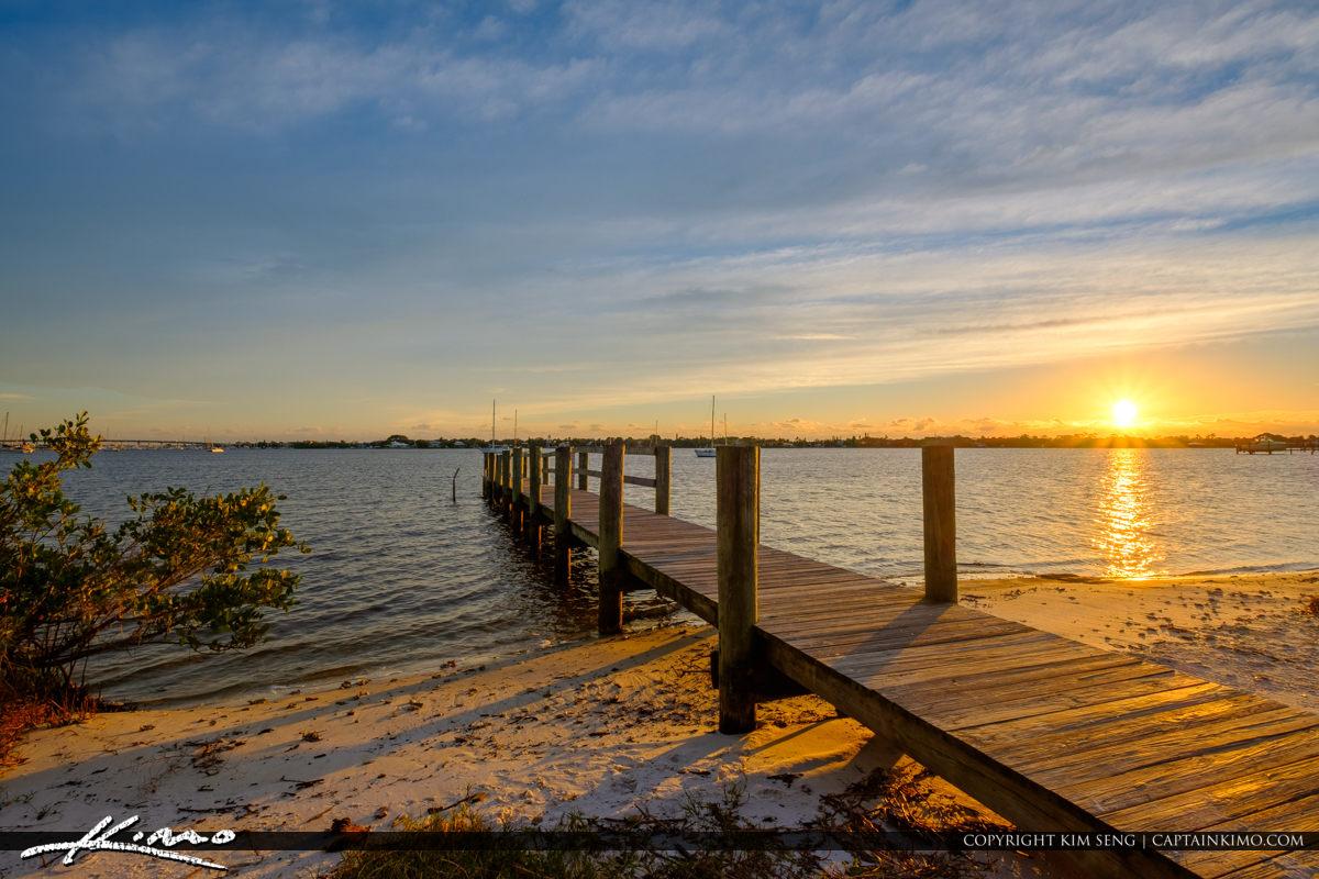 Sunrise Boardwalk Pendarvis Cove Park Palm City Florida