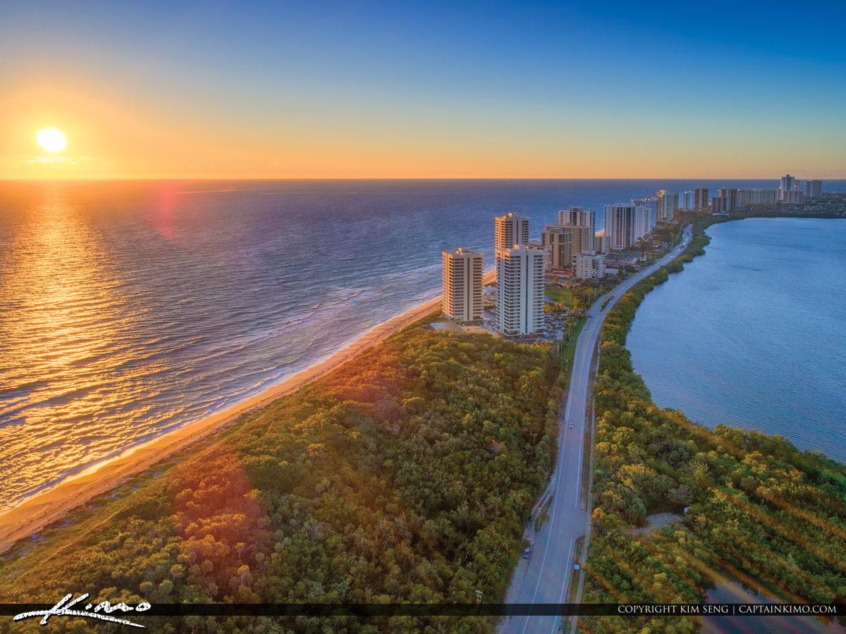 Singer Island Condo Sunrise Over Atlantic Ocean