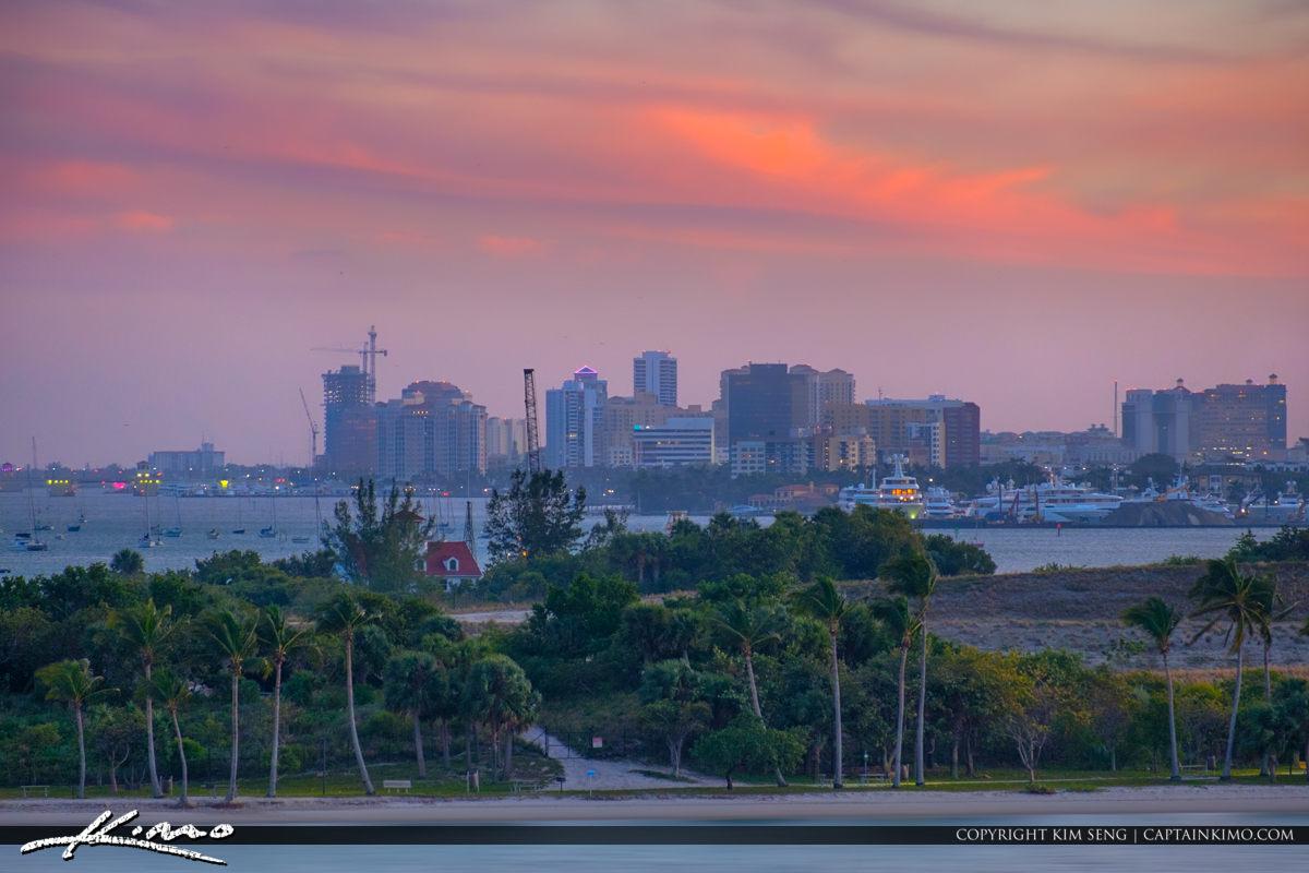 Peanut Island and West Palm Beach Skyline
