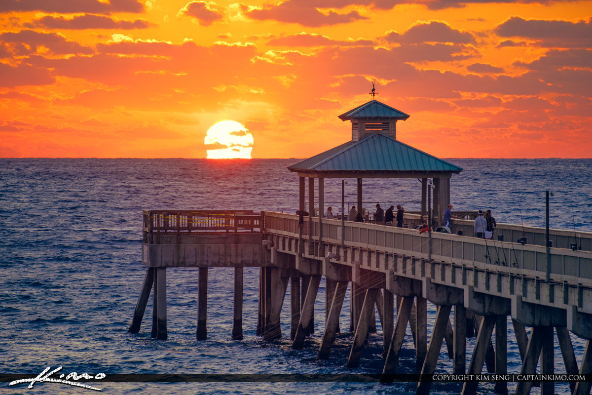 Deerfield Beach International Fishing Pier Sunrise Broward Count