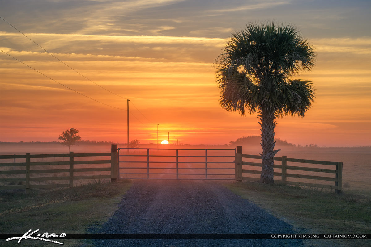 Sunrise at the Cow Pasture Kenansville Florida