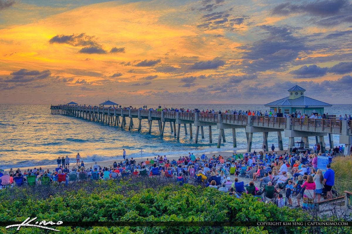 April 1st 2018 Easter Sunday Morning Sunrise Juno Beach Pier