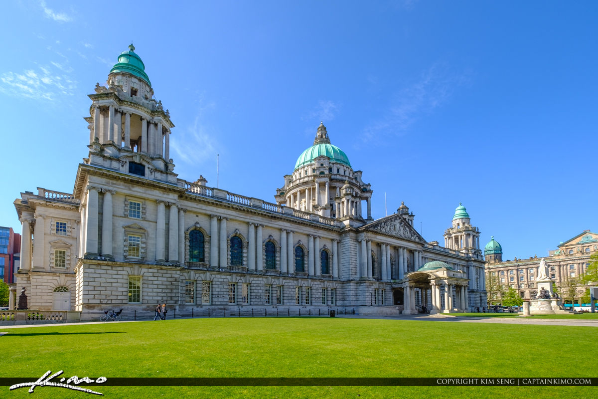 Belfast City Hall Green Grass Belfast Northern Ireland