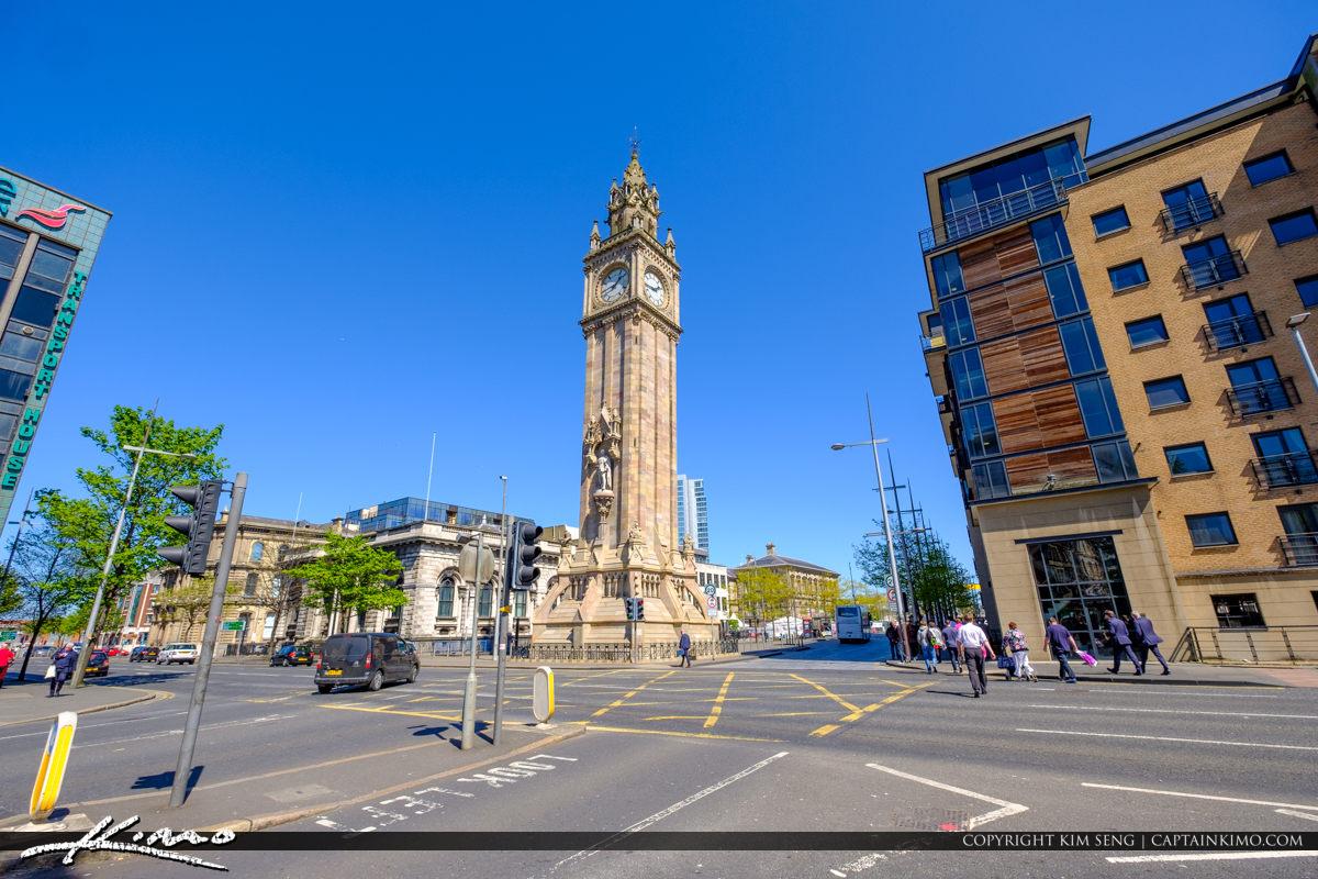 Albert Memorial Clock Street View Belfast Northern Ireland