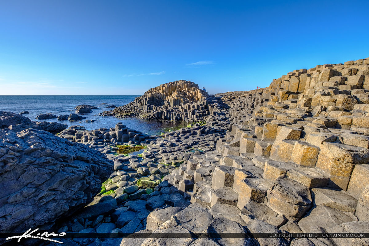 View of Rock Formation Giants Causeway Bushmills Northern Irelan