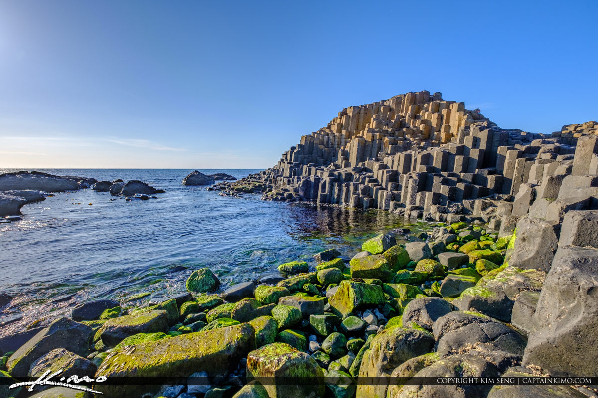 Rock Formation and Sea Giants Causeway Bushmills Northern Irelan
