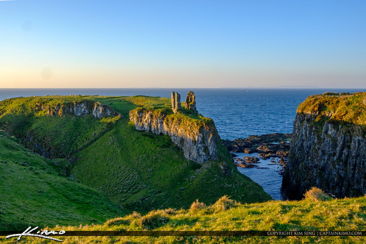 Old Ruins Dunseverick Castle Northern Ireland