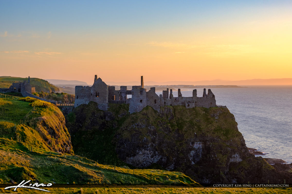 Warm Colors Dunluce Castle Northern Ireland