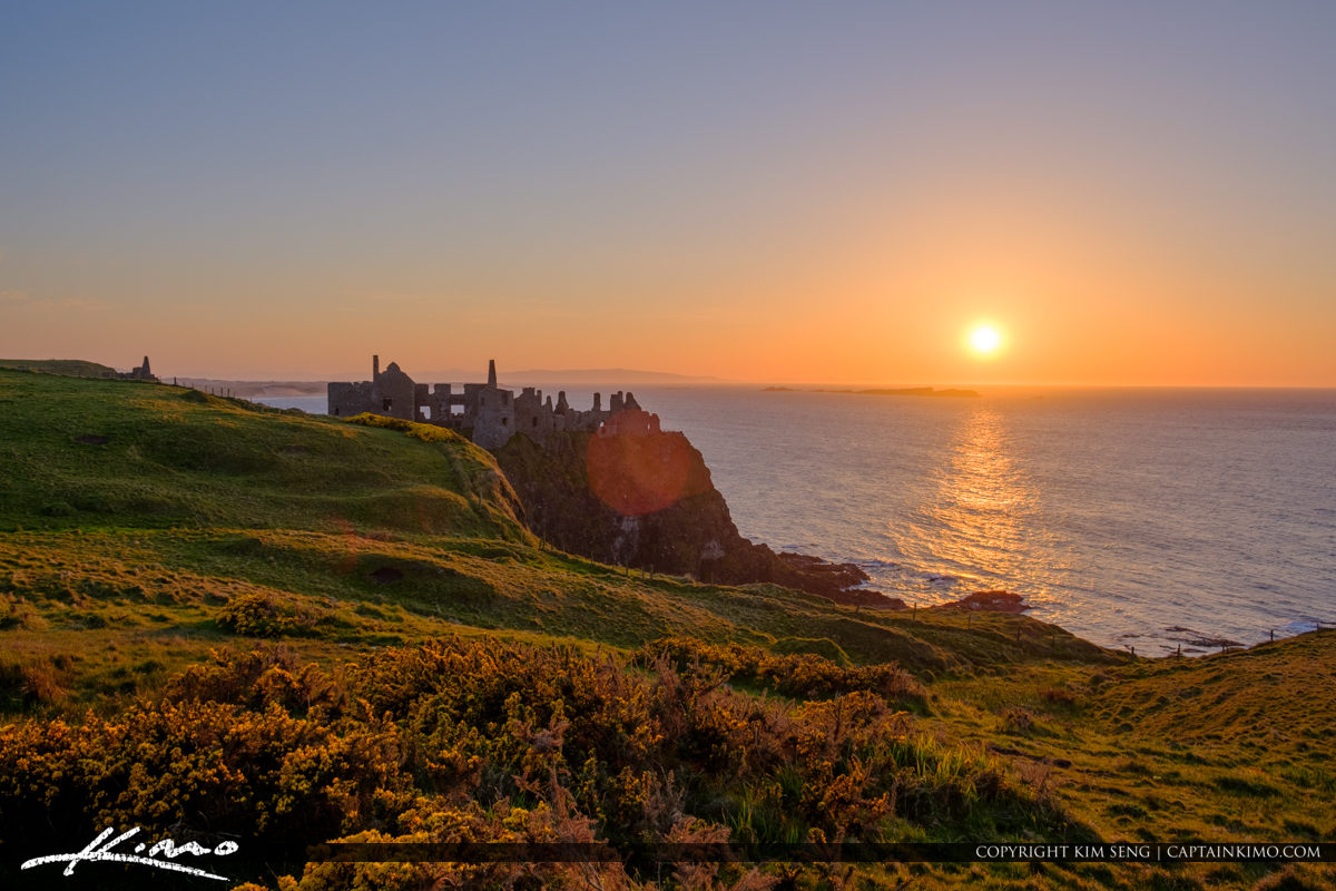Sunset Dunluce Castle Northern Ireland