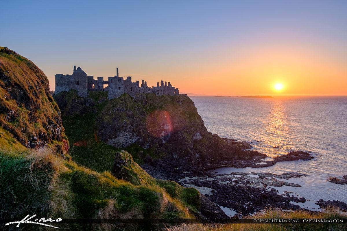 Dunluce Castle Northern Ireland Cliff Sunset