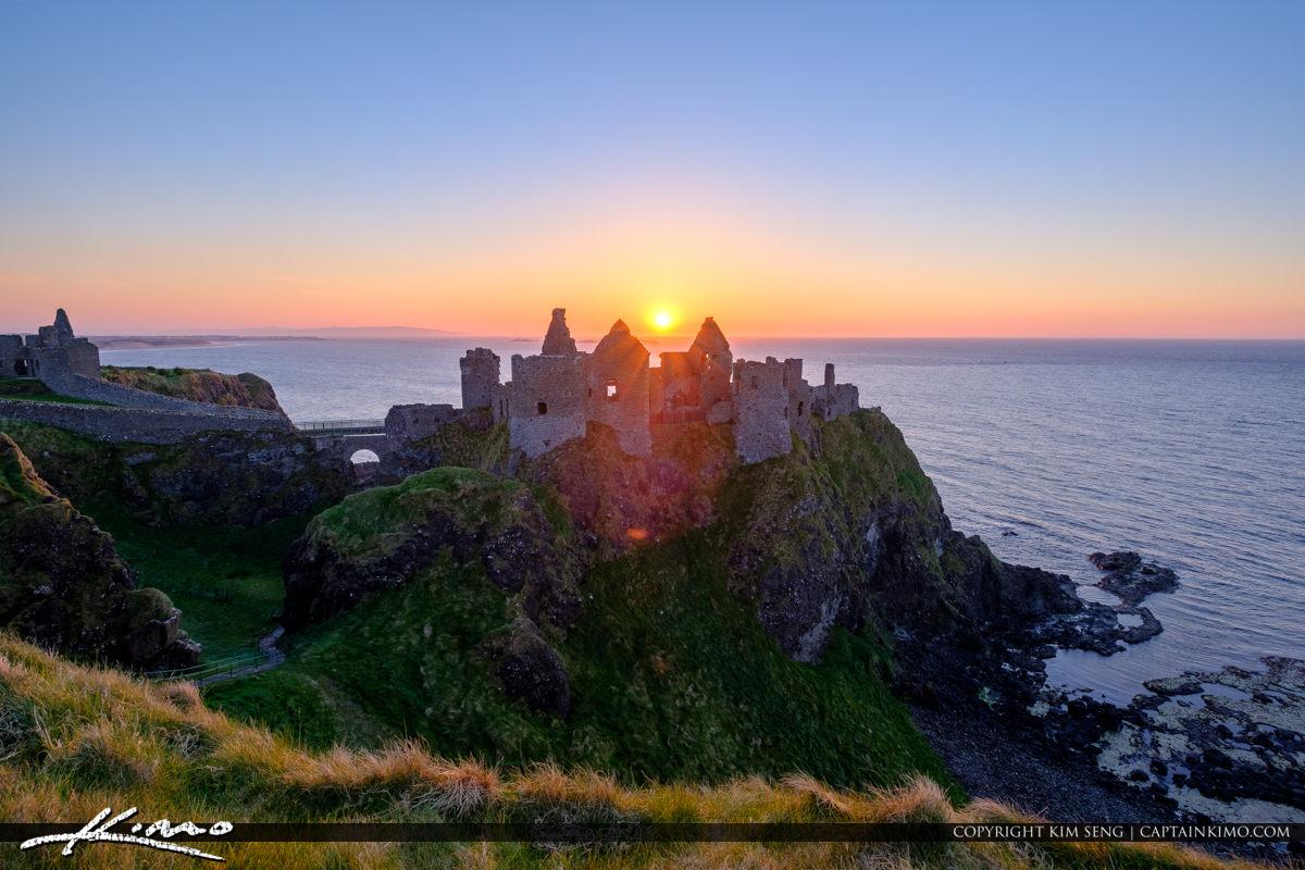 Sunset Between Dunluce Castle Northern Ireland