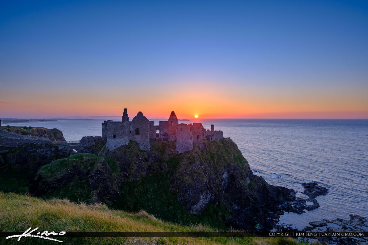 Dunluce Castle Northern Ireland Almost Sunset