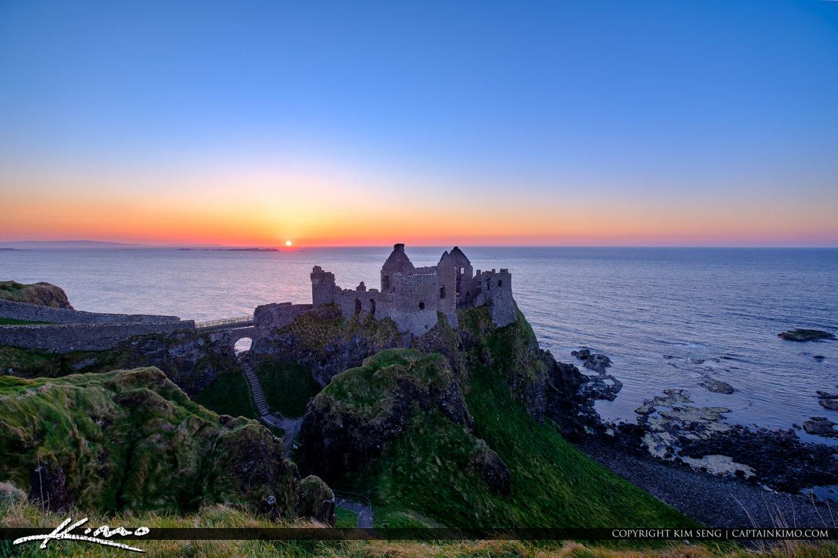 Dunluce Castle Northern Ireland Sunset Stair