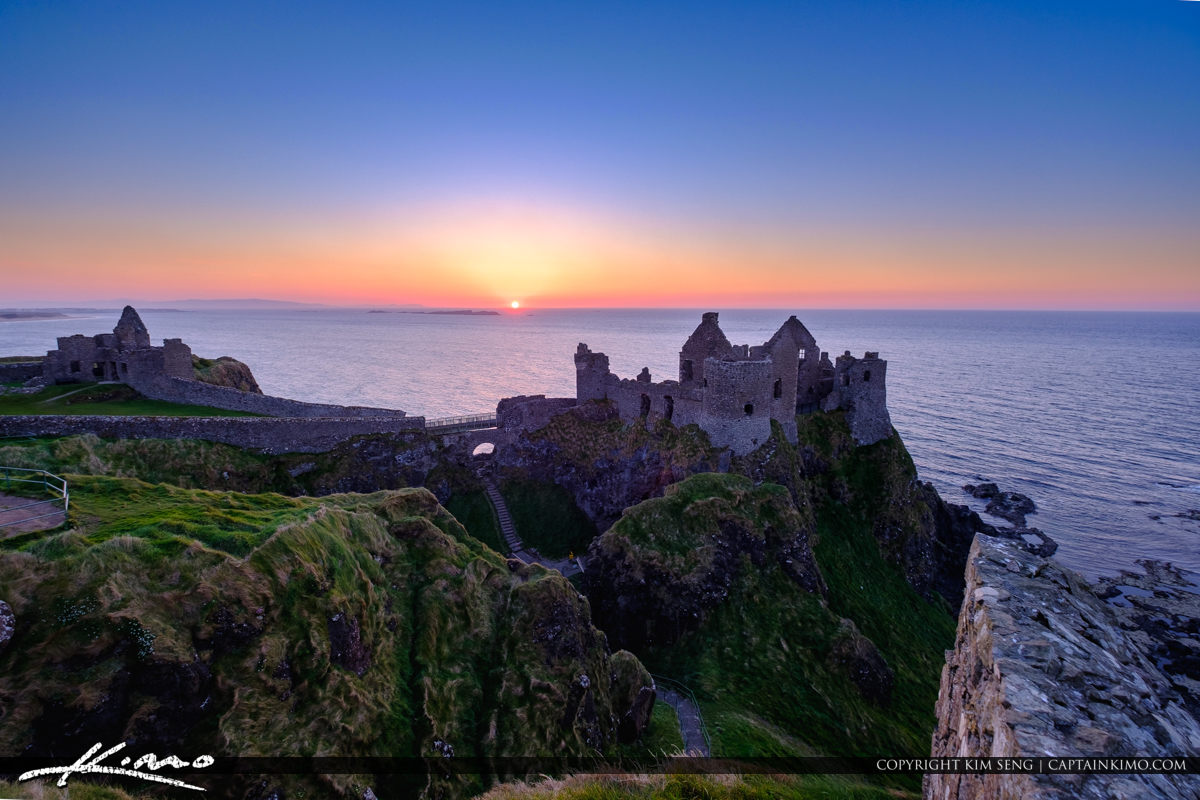 Dunluce Castle Northern Ireland Sunset at the Castle