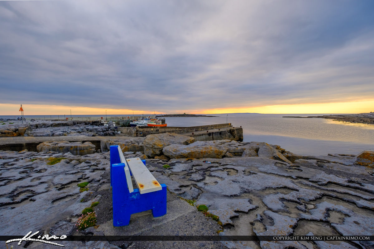 Island Ferry Doolin Ireland Bench