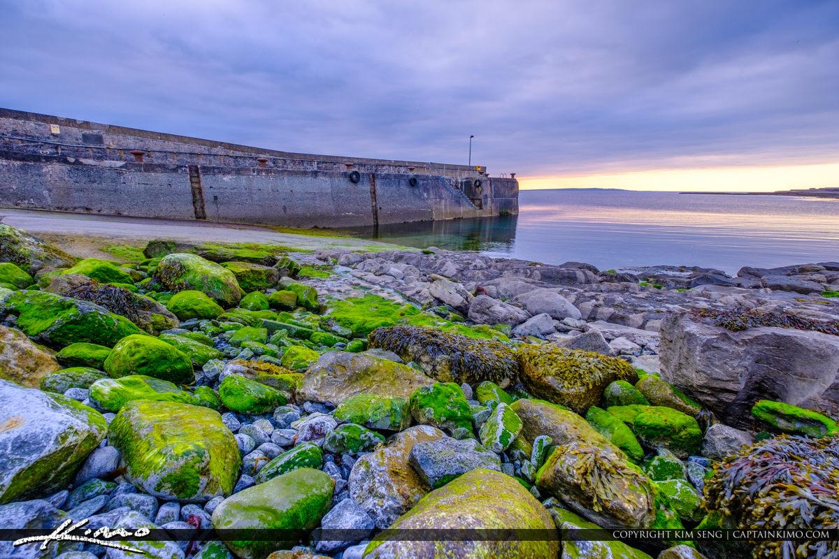 Island Ferry Doolin Ireland Green Rocks Down Low