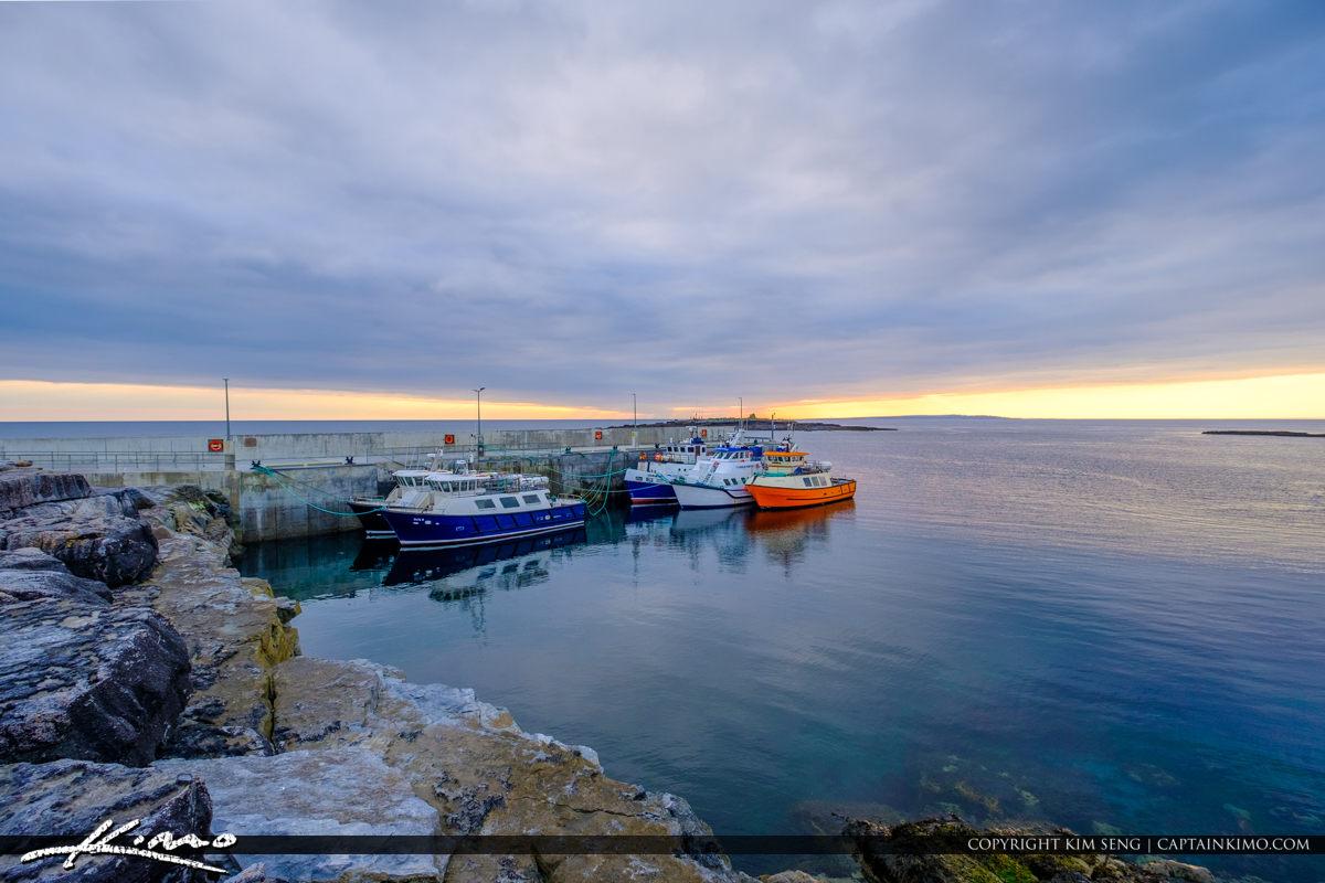 Island Ferry Doolin Ireland Boats at Dock