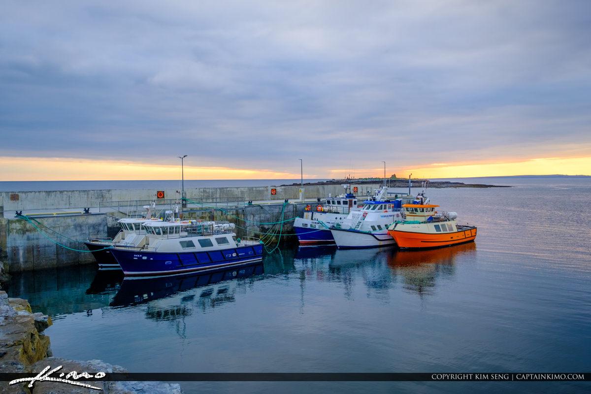 Island Ferry Doolin Ireland Boats Docked