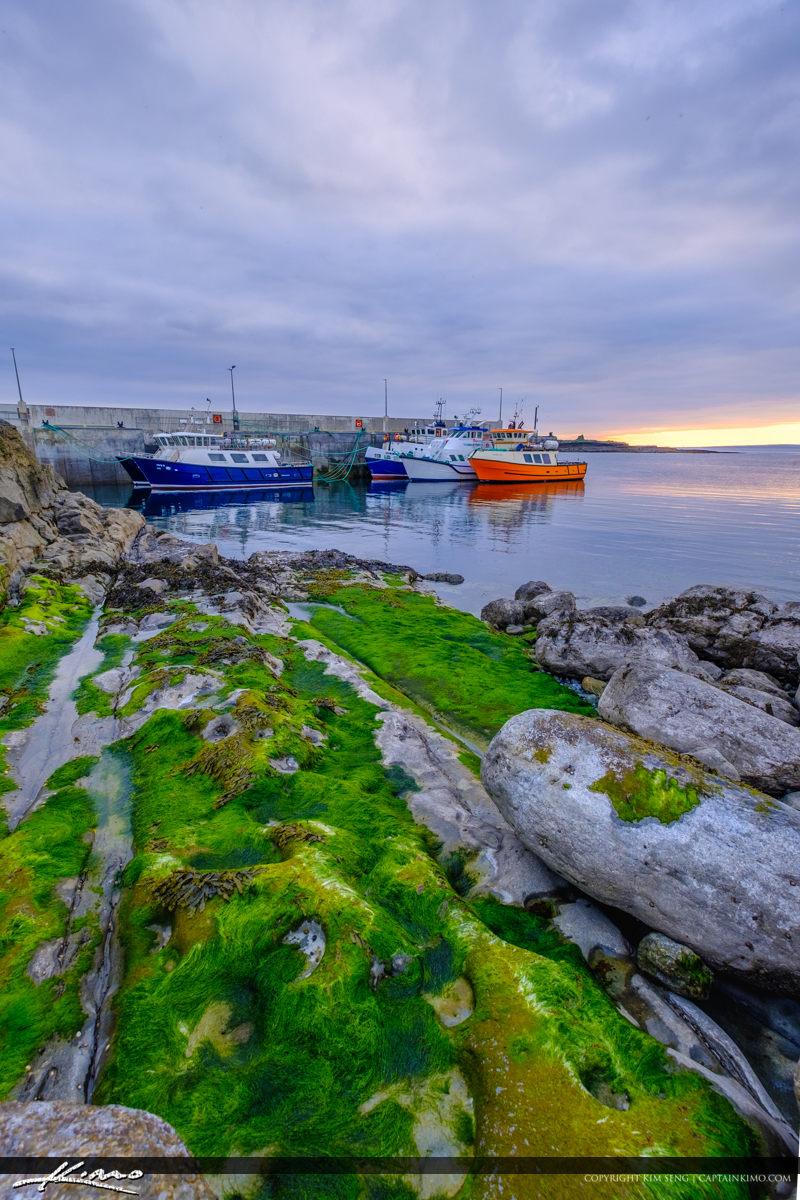 Island Ferry Doolin Ireland Vertical View Boats
