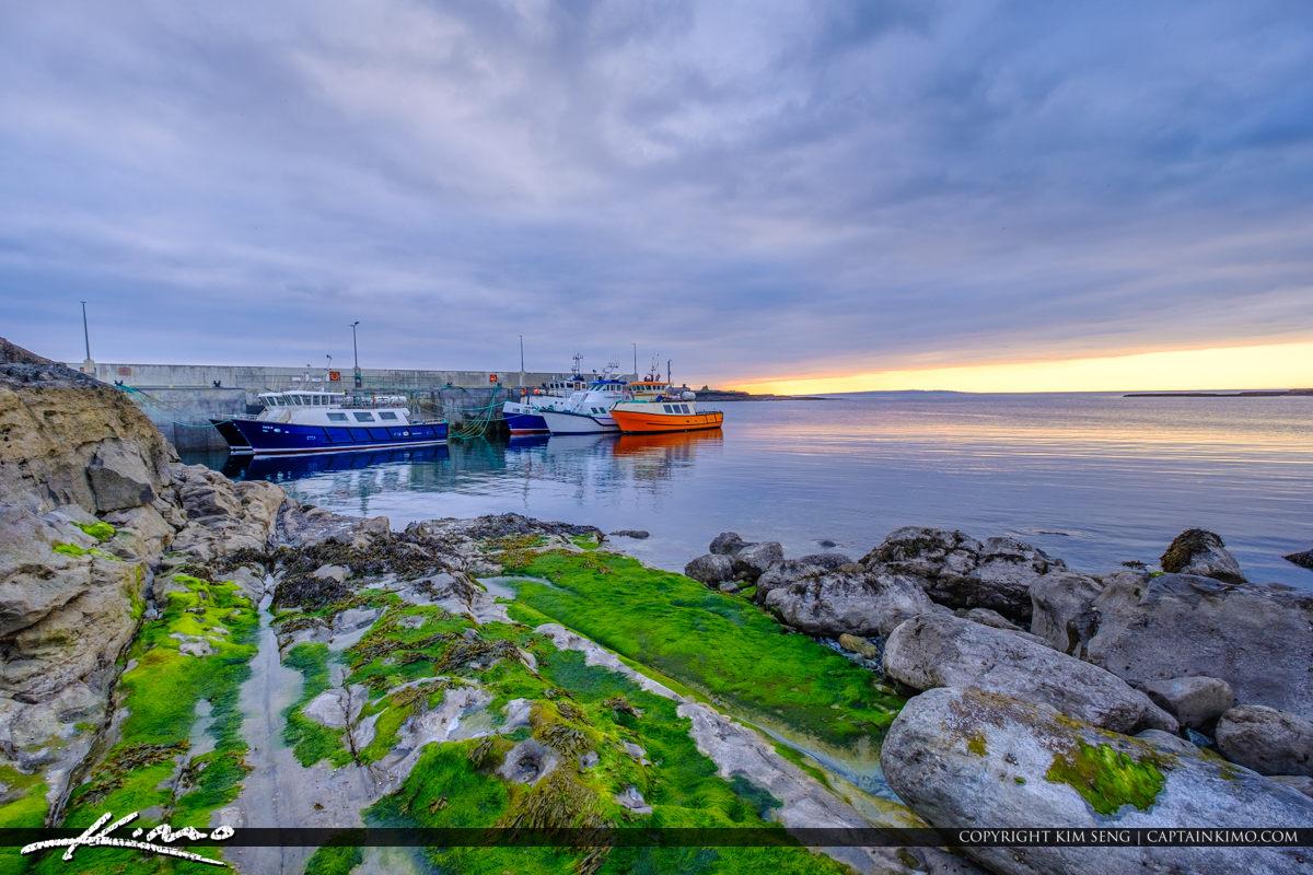 Island Ferry Doolin Ireland Horizontal View Boats