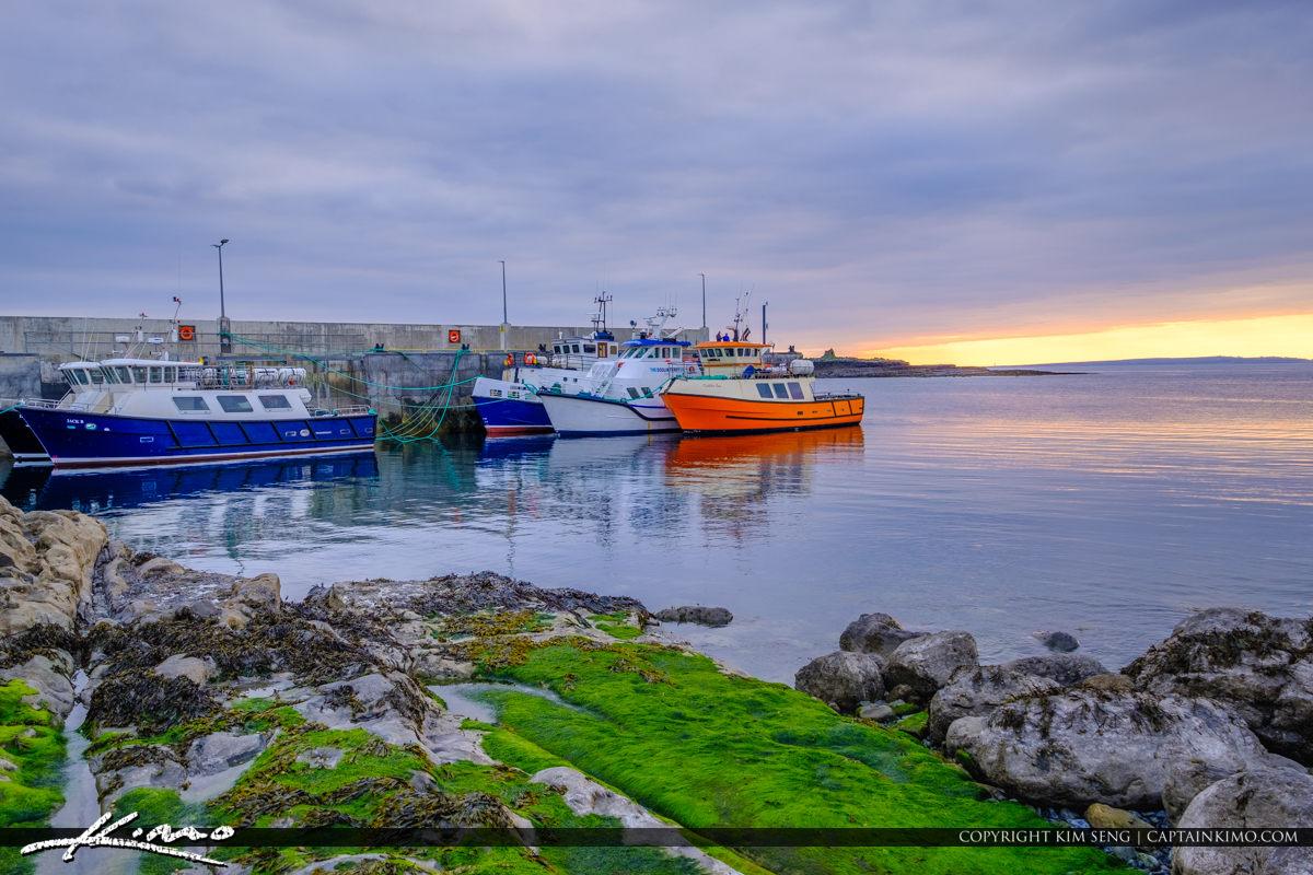 Island Ferry Doolin Ireland Closeup View Boats