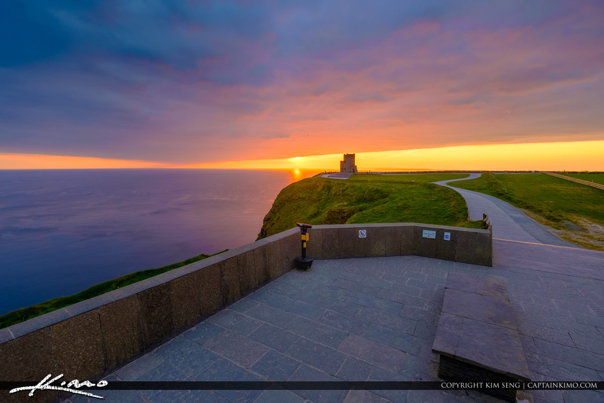 Cliffs of Moher County Clare Ireland Sunset O Brien s Tower