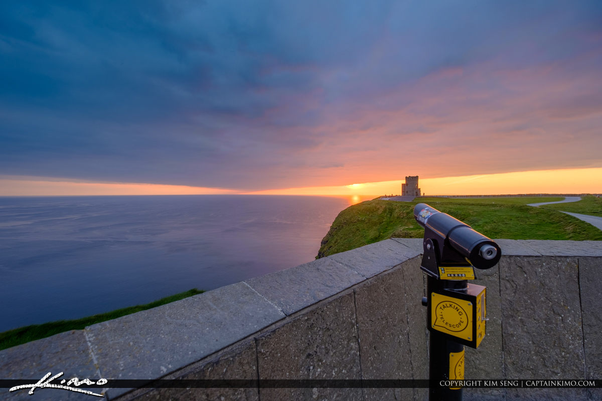 Cliffs of Moher County Clare Ireland View of O Briens Tower