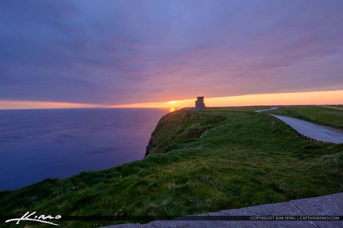 Cliffs of Moher County Clare Ireland Sunset at the Tower