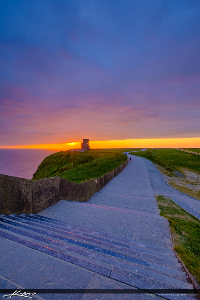 Vertical Stairway to Tower Cliffs of Moher County Clare Ireland