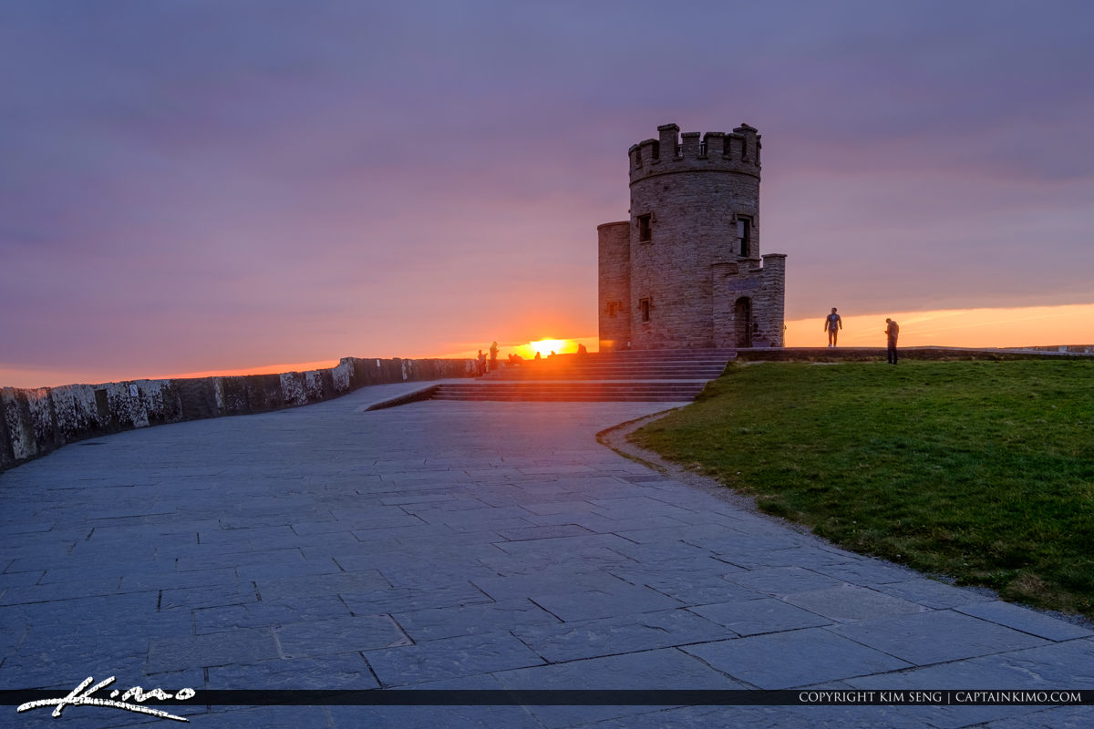 O Briens Tower Cliffs of Moher County Clare Ireland Sunset