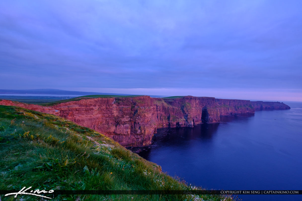 View from Cliffs of Moher County Clare Ireland