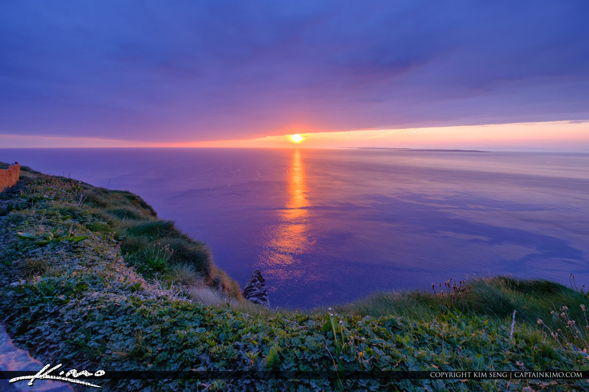 Sunset View Cliffs of Moher County Clare Ireland