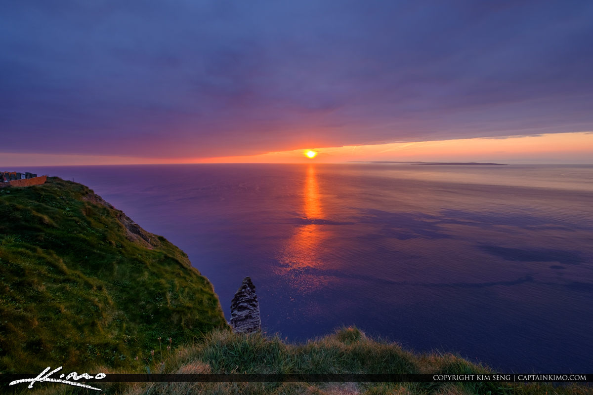 Sunset Ocean View Cliffs of Moher County Clare Ireland