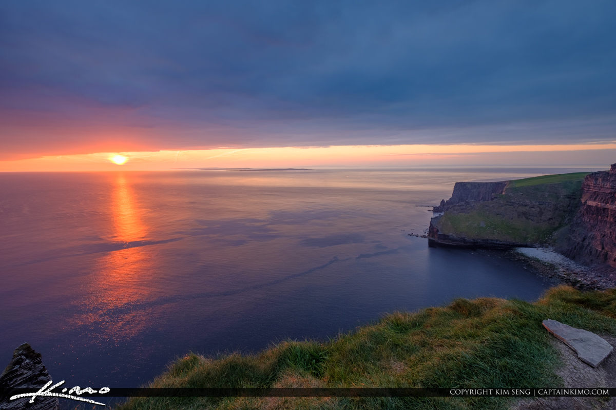 Sunset from Ireland Cliffs of Moher County Clare Ireland