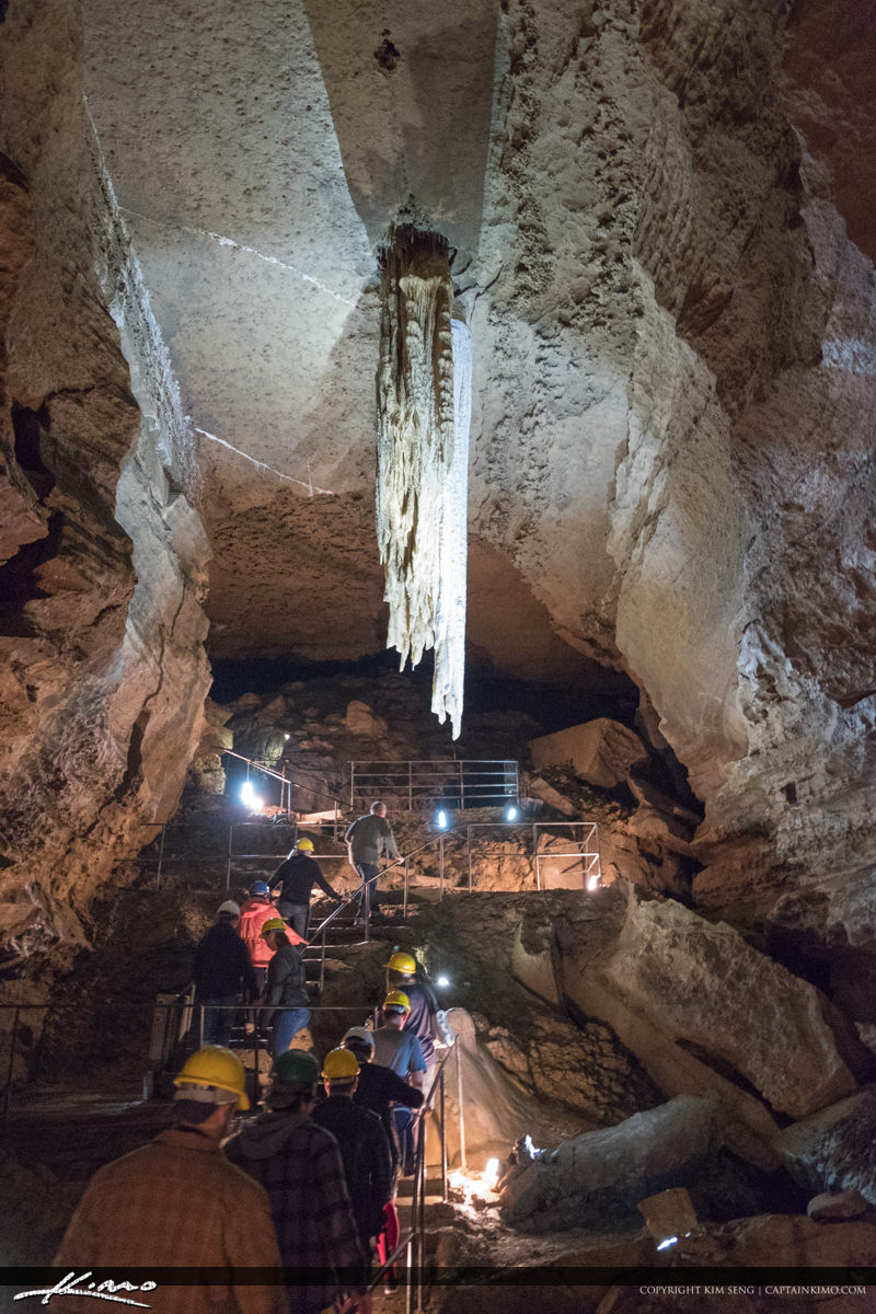 People Viewing Large Stalactite Doolin Cave Doolin Ireland