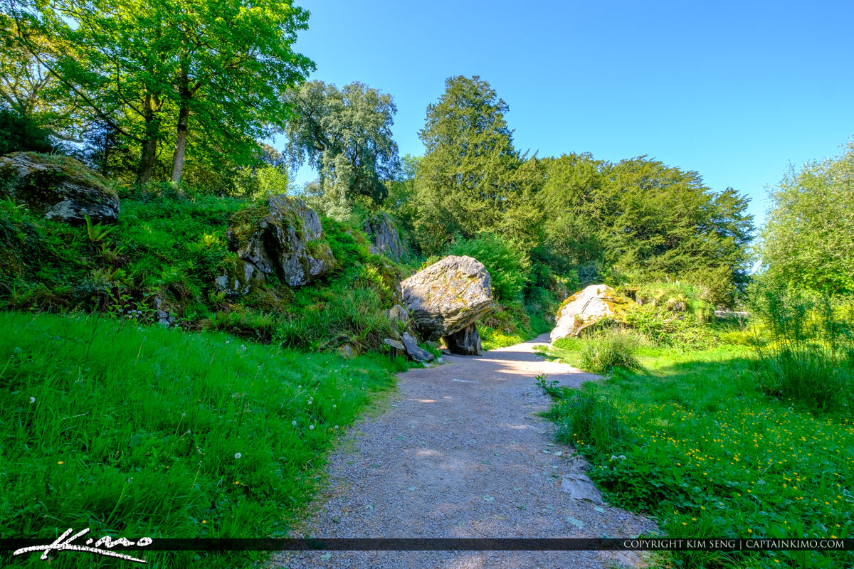 Blarney Castle Gardens Large Boulder Cork Ireland