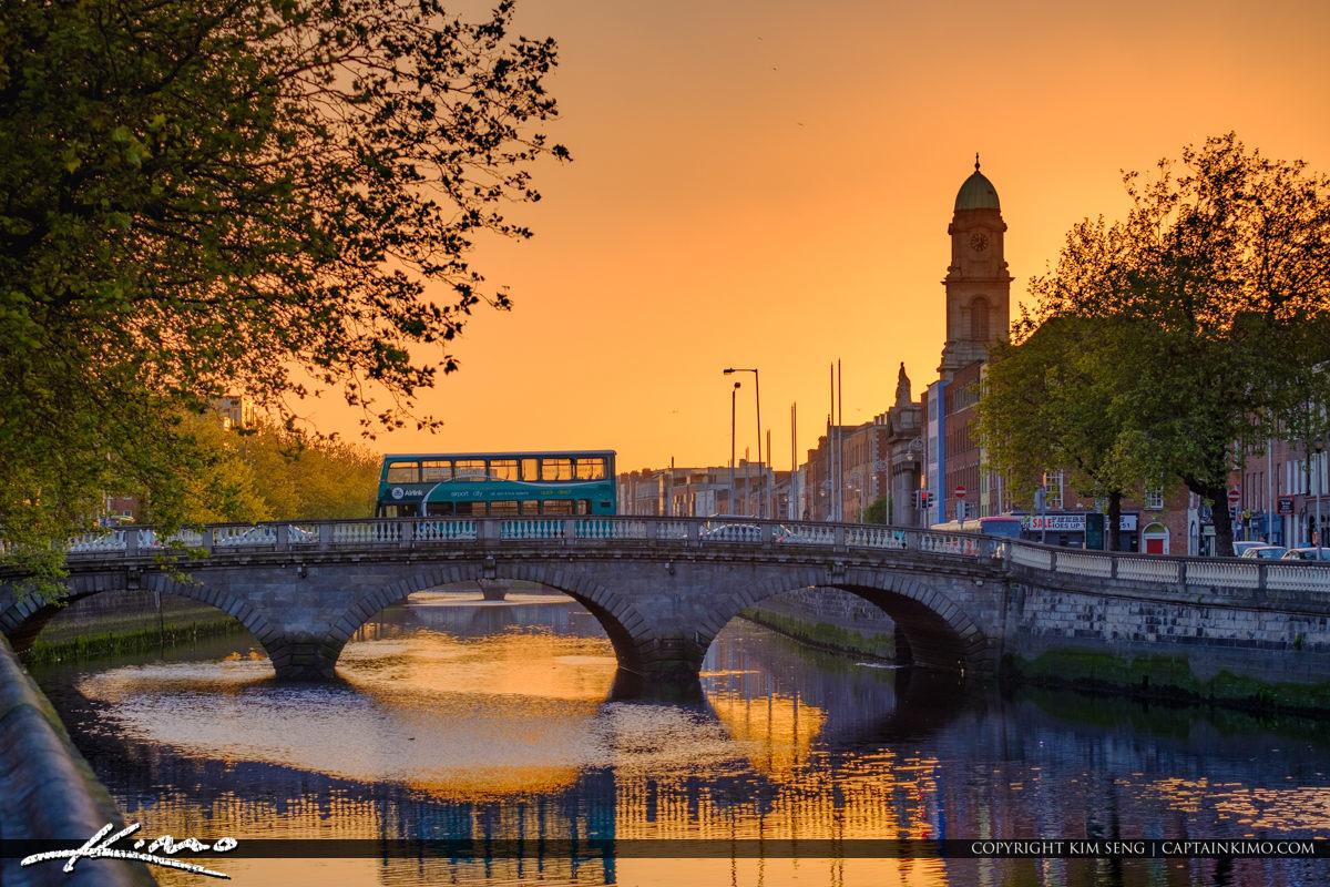 Saint Pauls Church Bridge River Liffey Dublin Republic of Irelan