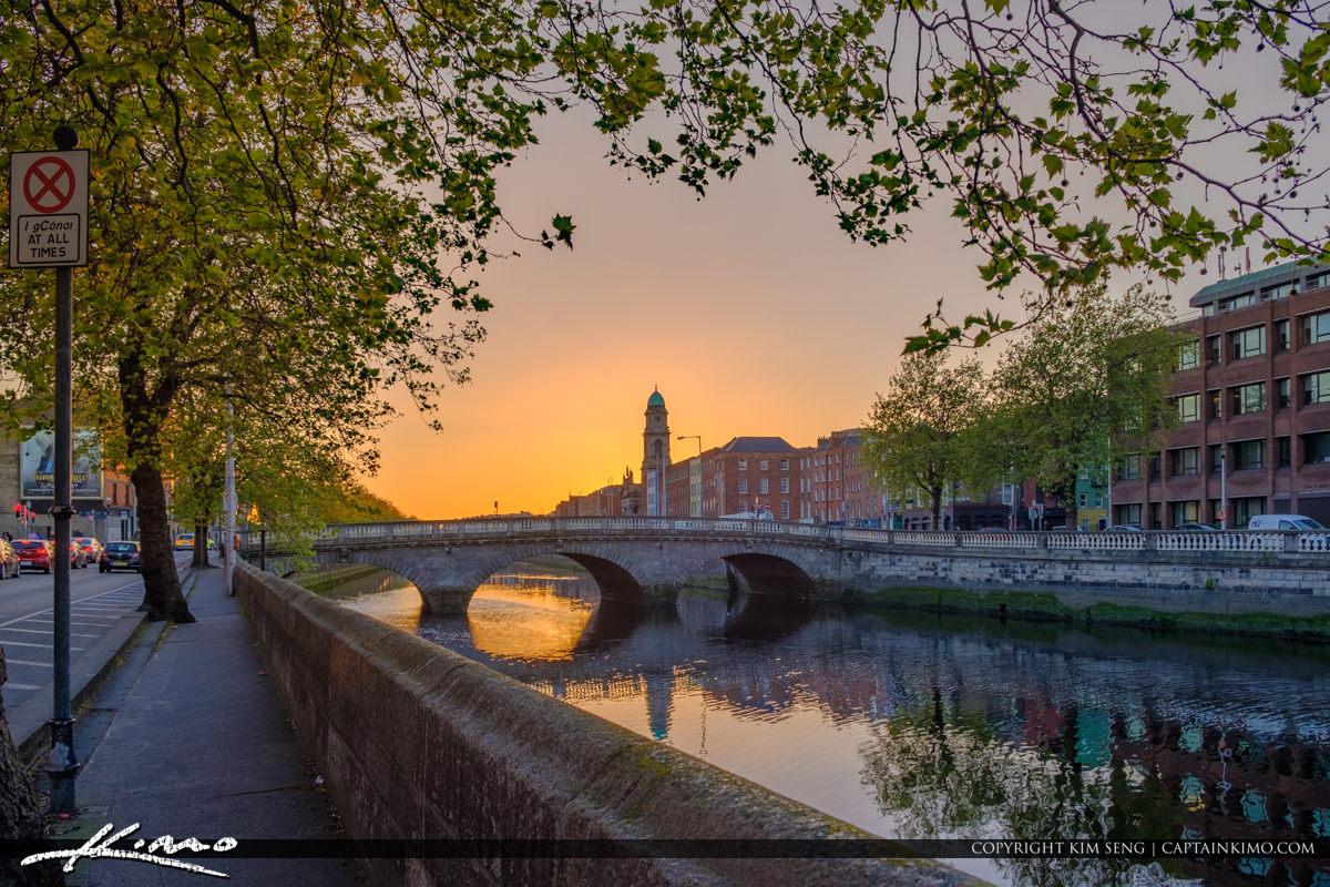 Saint Pauls Church Bridge River Liffey Dublin Ireland Along Road