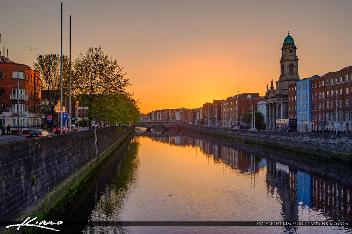 River Liffey Dublin Republic of Ireland Sunset