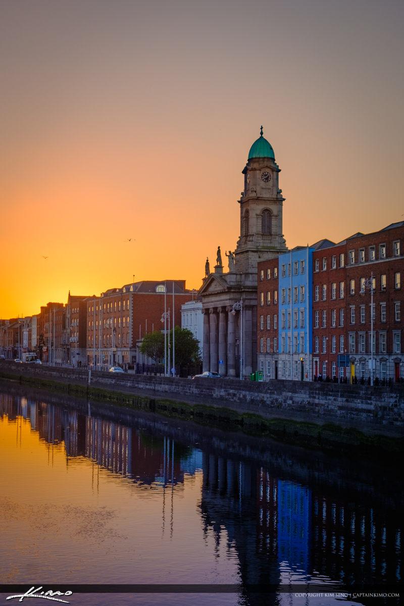 Saint Pauls Church Sunset Dublin Ireland