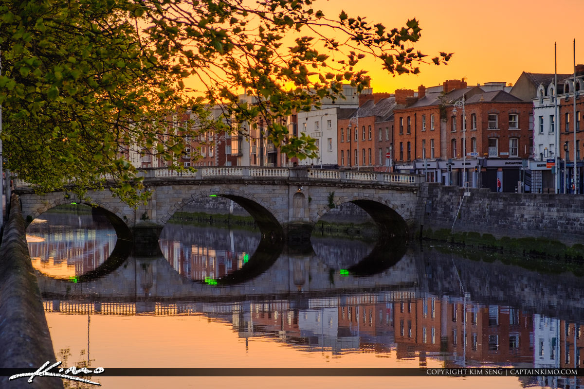 Cobble Stone Bridge River Liffey Republic of Ireland Dublin