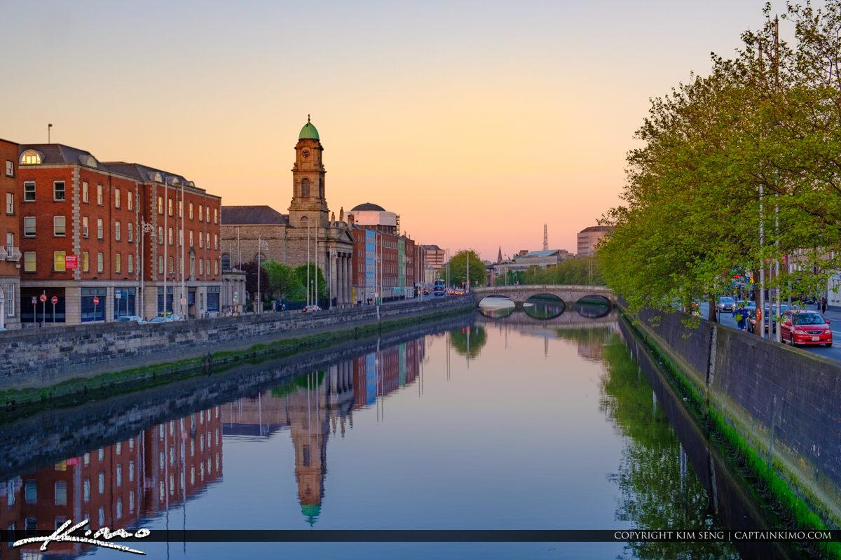 River Liffey Dublin Republic of Ireland Waterway Channel