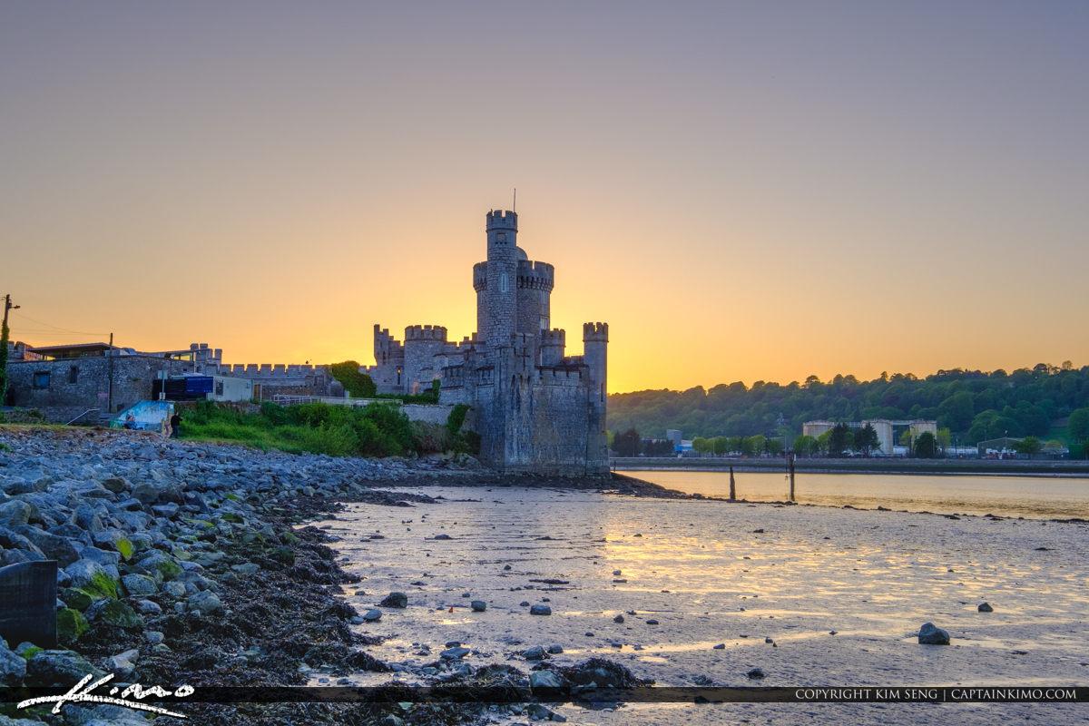 Blackrock Castle Cork Ireland Sunset at River Lee
