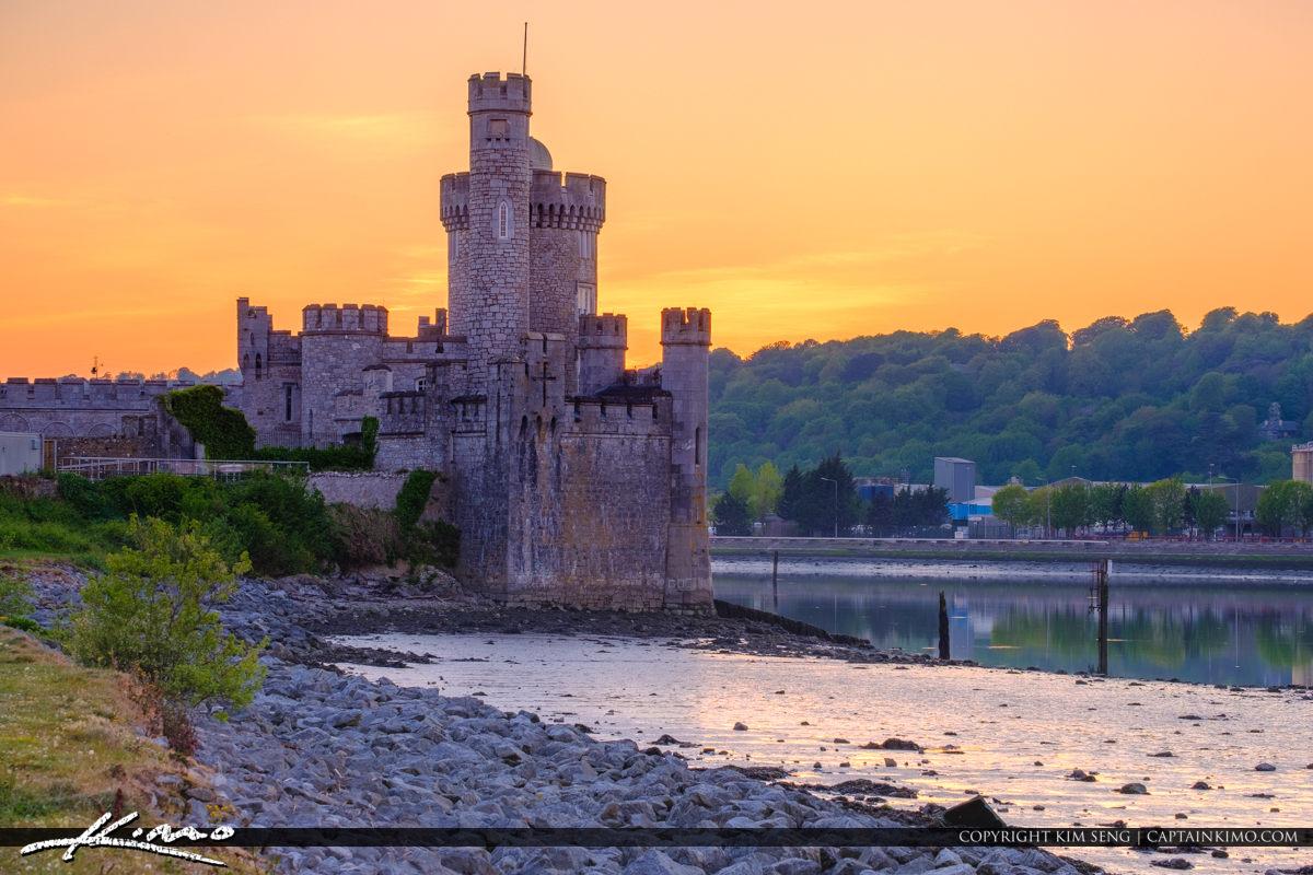 Blackrock Castle Cork Ireland Sunset Warm Golden Glow