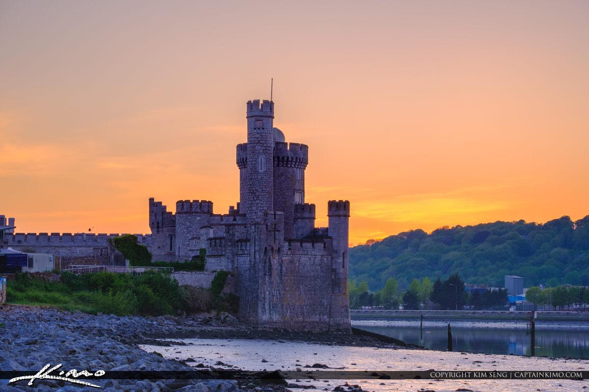 Blackrock Castle Cork Ireland Down by the Rocks Sunset