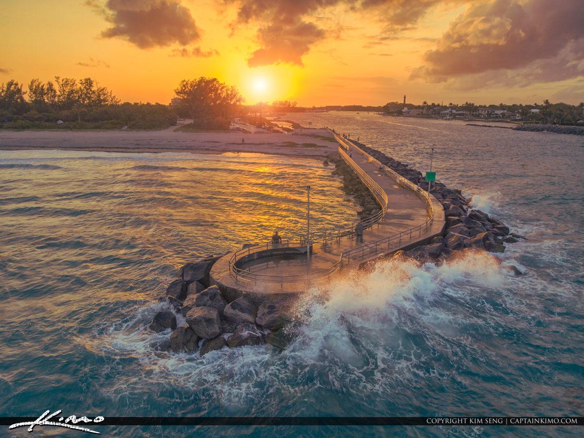 Jupiter Inlet Sunset Waiting for You Mavic Air HDR Photo