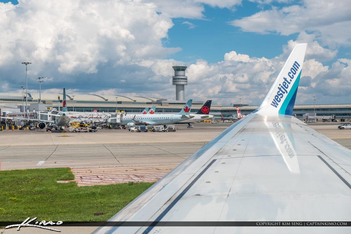 Toronto Pearson International Airport Bright Blue Sky
