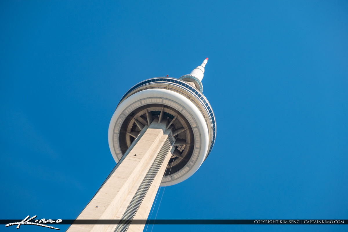 CN Tower Lookoing Up Toronto Canada